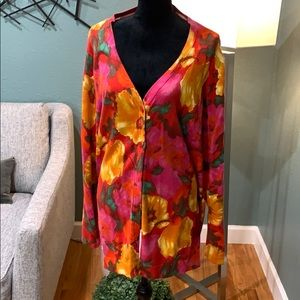 Used Isaac Mizrahi XL Multi color Cardigan